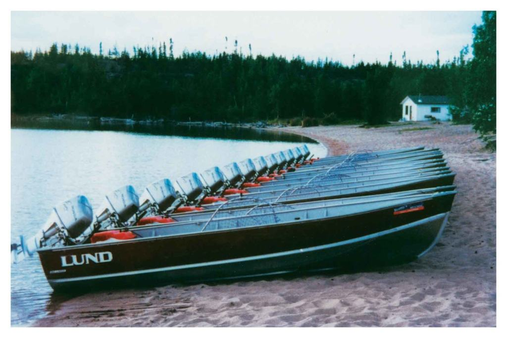 Lund Boats on Nonacho Lake Fishing Camp NWT
