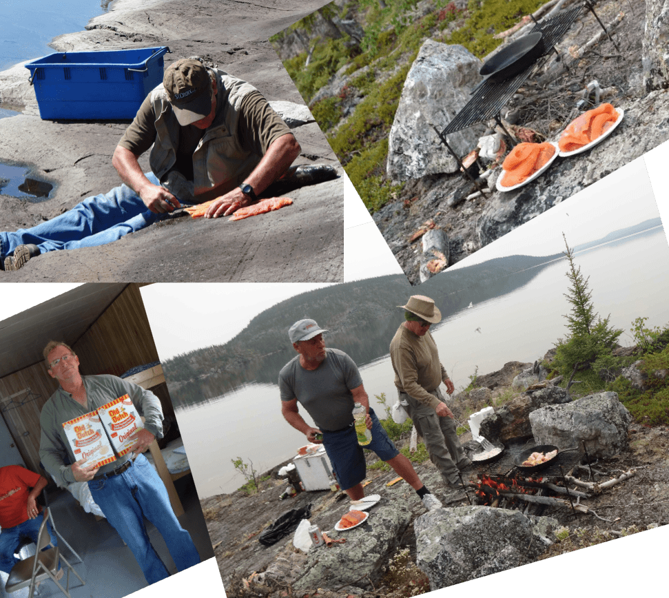 cooking_cleaning_lake_trout_at_nonwcho_lake_fising_camp_nwt