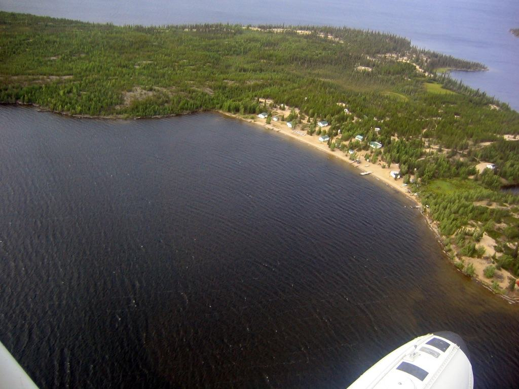arterial view of no nacho from twin otter float plane