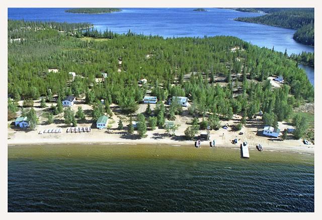 Nonacho Lake Fishing Camp Airial View