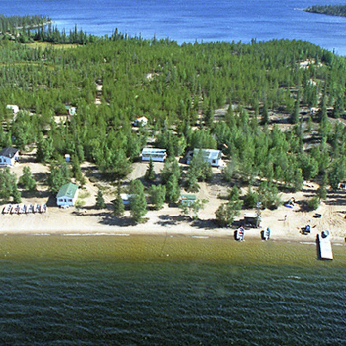 Nonacho Lake Fishing Camp Arial View